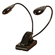 On-Stage Stands Dual Head 4 LED Clip Light