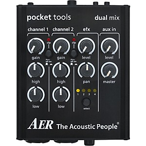 AER Dual-Mix 2 Acoustic Guitar Direct Box and Preamp by AER