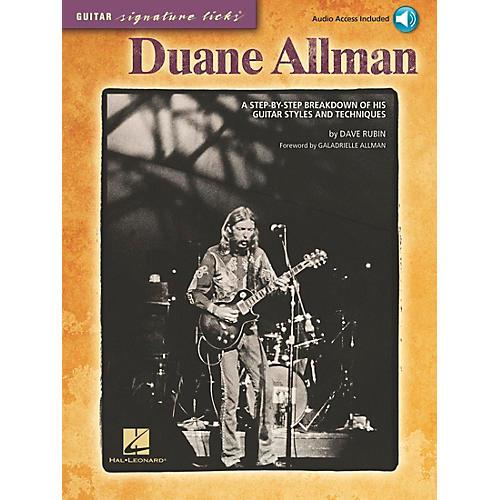 Hal Leonard Duane Allman - Guitar Signature Licks Book/CD