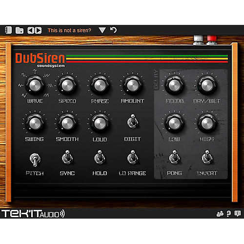 Tek'it Audio DubSiren Virtual Synthesizer Plig-in Software Download-thumbnail