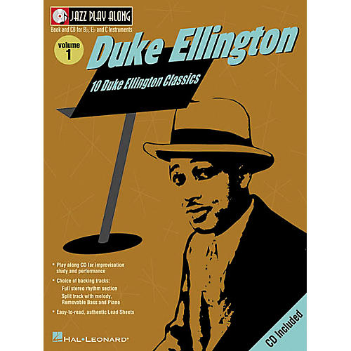 Hal Leonard Duke Ellington - Jazz Play Along, Volume 1 (Book/CD)-thumbnail