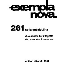 Sikorski Duo Sonata for Two Bassoons (Score and Parts) Woodwind Ensemble Series Composed by Sofia Gubaidulina