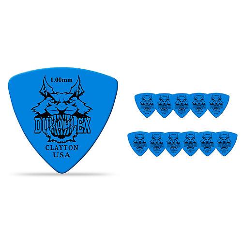 Clayton Duraplex Delrin Rounded Triangle Picks 1 Dozen 1.0 mm