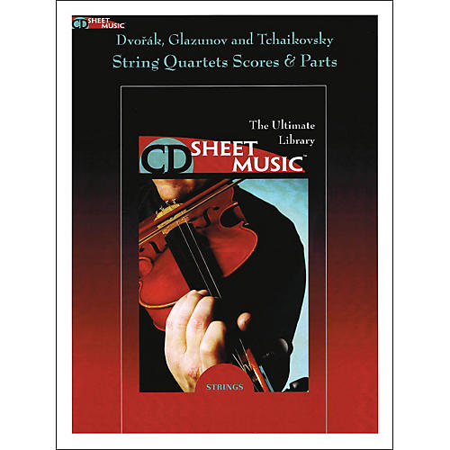 Hal Leonard Dvorak Glazunov And Tchaikovsky String Quartets Score And Parts CD Sheet Music