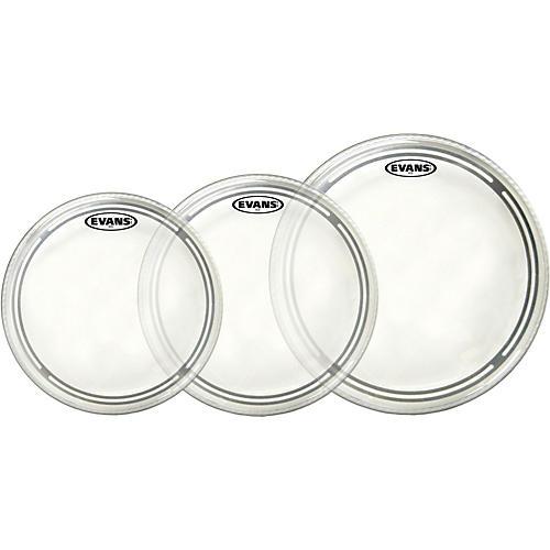 Evans EC2 Clear 12/13/16 Standard Drum Head Pack-thumbnail