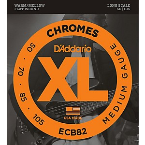 Daddario ECB82 Chromes Flatwound Medium Bass Strings by D'Addario