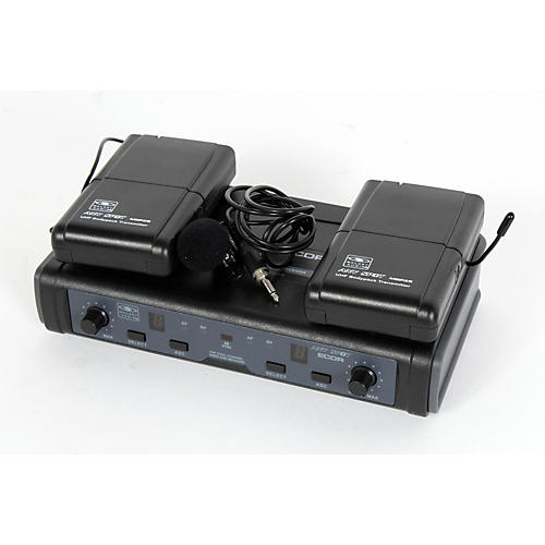 Galaxy Audio ECD Dual Channel UHF Wireless System with Dual Lavalier Microphones-thumbnail