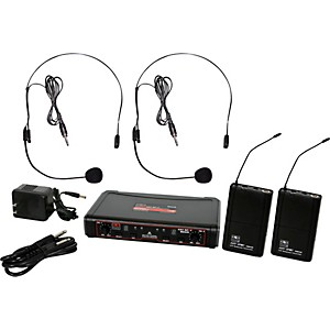 Galaxy Audio EDXR/38SS EDX Dual-Channel Wireless System with Two Headset Mi...