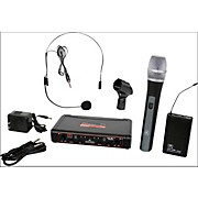 Galaxy Audio EDXR/HHBPS Dual-Channel Wireless Handheld and Headset System