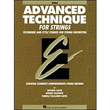 Hal Leonard EE Advanced Technique for Strings Viola