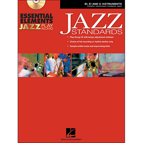 Hal Leonard EE Jazz Play Along: Jazz Standards B-Flat, E-Flat And C Instruments Book/CD-Rom
