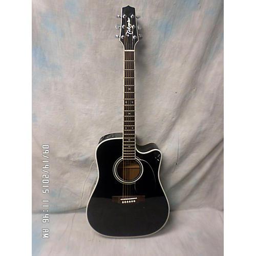 Takamine EF341SC Black Acoustic Electric Guitar