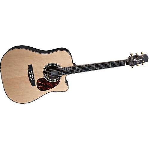 Takamine EF36 Dreadnought Special Rose Acoustic-Electric Guitar with Case