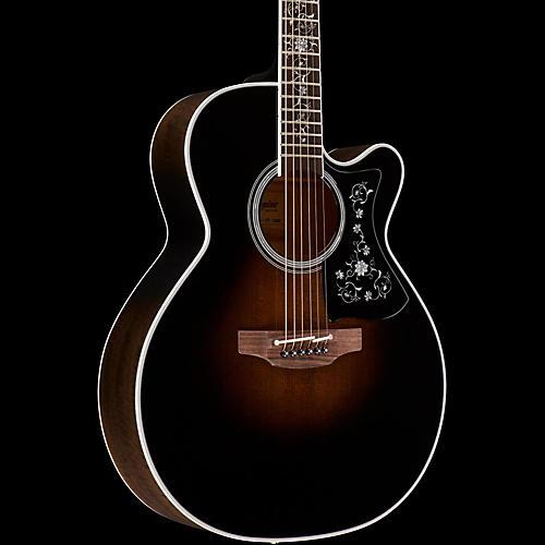 Takamine EF450C Thermal Top Acoustic-Electric Guitar Transparent Black Sunburst-thumbnail