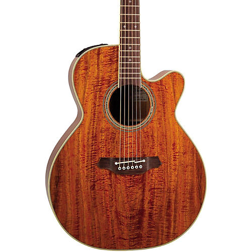 Takamine EF508KC NEX Legacy Series All Koa Acoustic-Electric Guitar Natural
