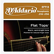 D'Addario EFT13 Flat Top PB Resophonic Acoustic String Set