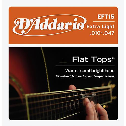 D'Addario EFT15 Flat Top PB Extra Light Acoustic Guitar Strings-thumbnail