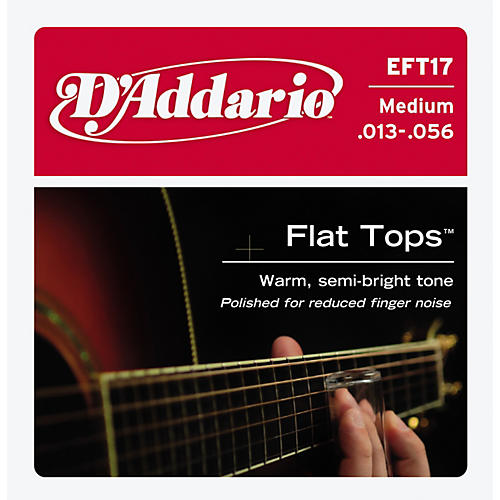 D'Addario EFT17 Flat Top PB Medium Acoustic Guitar Strings-thumbnail