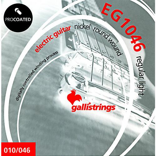 Galli Strings EG1046 PROCOATED Regular Light Electric Guitar Strings 10-46