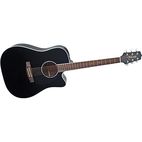Takamine EG341SC Dreadnought Acoustic-Electric Guitar Gloss Black