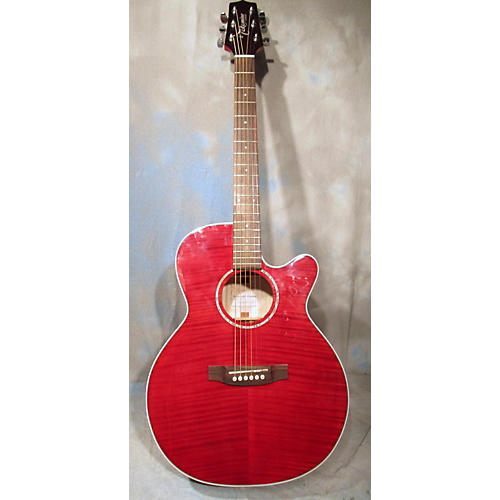 Takamine EG440C Acoustic Electric Guitar Trans Red