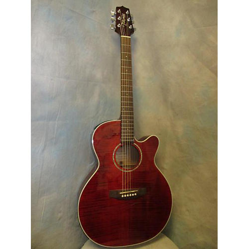 Takamine EG440C Trans Red Acoustic Electric Guitar-thumbnail