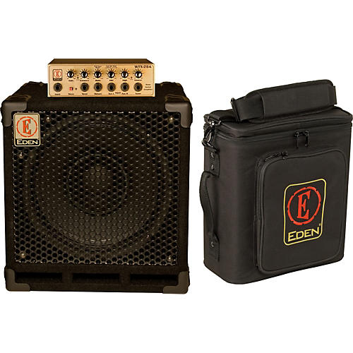 Eden EGRW1264 260W Bass Amp Head and 300W 1x12 Cabinet Stack-thumbnail