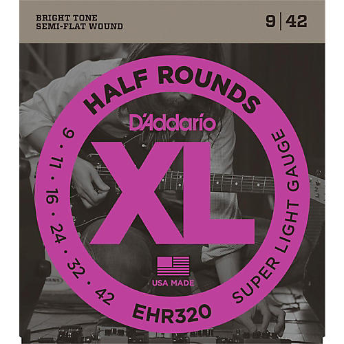 D'Addario EHR320 Half Round Super Light Electric Guitar Strings-thumbnail
