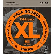 D'Addario EHR360 Half Round Jazz Medium Electric Guitar Strings