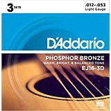 EJ16-3D Phosphor Bronze Light Acoustic Guitar Strings (3-Pack)