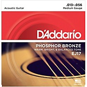 D'Addario EJ17 Phosphor Bronze Medium Acoustic Strings Single-Pack