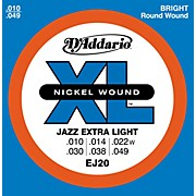 D'Addario EJ20 Nickel Wound Jazz Extra Light Electric Guitar Strings