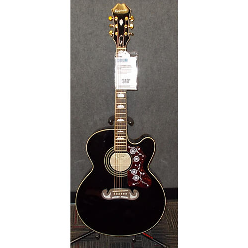 Epiphone EJ200CE Black Acoustic Electric Guitar-thumbnail