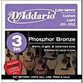 D'Addario EJ26 Acoustic Guitar Strings 3-Pack with Free Picks thumbnail