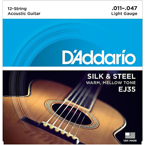 D'Addario EJ35 Silk & Steel Silver Wound 12-String .011