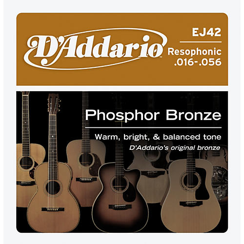 D'Addario EJ42 PB Resophonic String Set-thumbnail