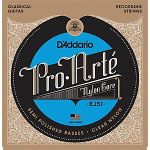 Daddario EJ51 Pro-Arte Semi Polished Basses Hard Tension Classical Guitar ... by D'Addario