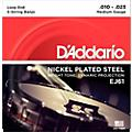 Clearance D'Addario EJ61 Nickel 5-String Medium Banjo Strings (10-23)