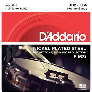 Daddario EJ63i Nickel Irish Tenor Banjo Strings 9-30 by D'Addario