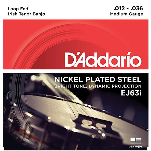 D'Addario EJ63i Nickel Irish Tenor Banjo Strings (9-30)-thumbnail