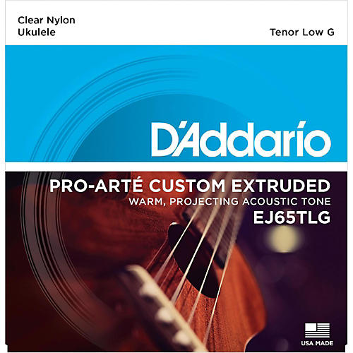 D'Addario EJ65TLG Pro-Arte Custom Extruded Tenor Low G Nylon Ukulele Strings-thumbnail