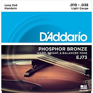 D'Addario EJ73 Phosphor Bronze Light Mandolin Strings 10-38 by DAddario