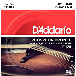 D'Addario EJ74 Phosphor Bronze Medium Mandolin Strings 11-40 by DAddario