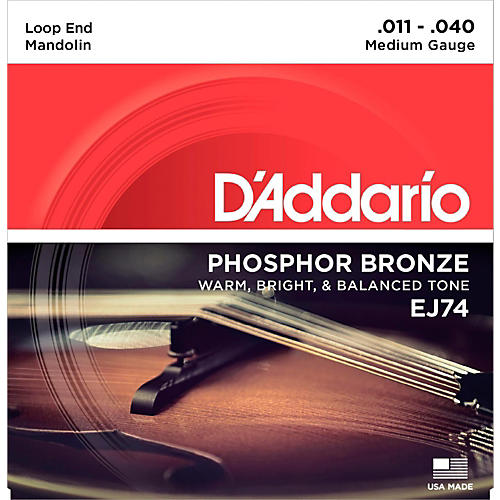D'Addario EJ74 Phosphor Bronze Medium Mandolin Strings (11-40)-thumbnail