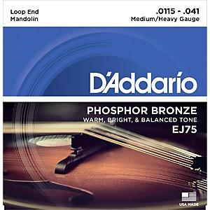 Daddario EJ75 Phosphor Bronze Medium/Heavy Mandolin Strings 11.5-41 by D'Addario