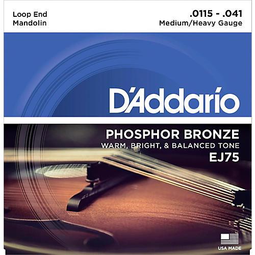 D'Addario EJ75 Phosphor Bronze Medium/Heavy Mandolin Strings (11.5-41)