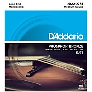D'Addario EJ78 Phosphor Bronze Mandocello Strings (22-74)