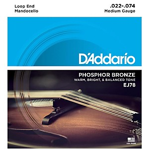 Daddario EJ78 Phosphor Bronze Mandocello Strings 22-74 by D'Addario
