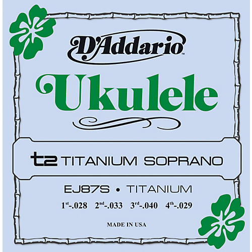 D'Addario EJ87S Titanium Soprano Ukulele Strings-thumbnail