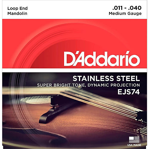 D'Addario EJS74 Stainless Steel Medium Mandolin Strings (11-40)
